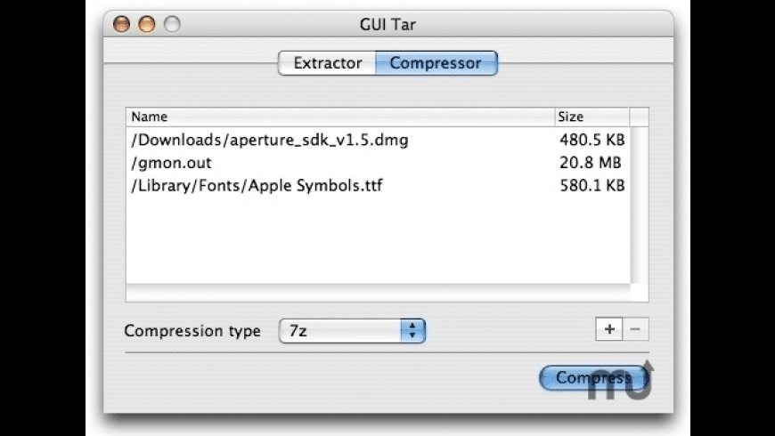 GUI Tar for Mac - review, screenshots