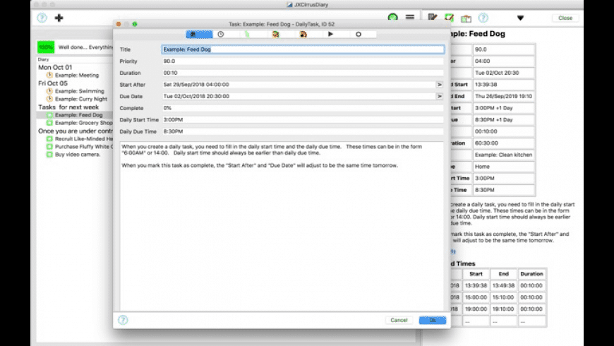 JXCirrus Diary for Mac - review, screenshots