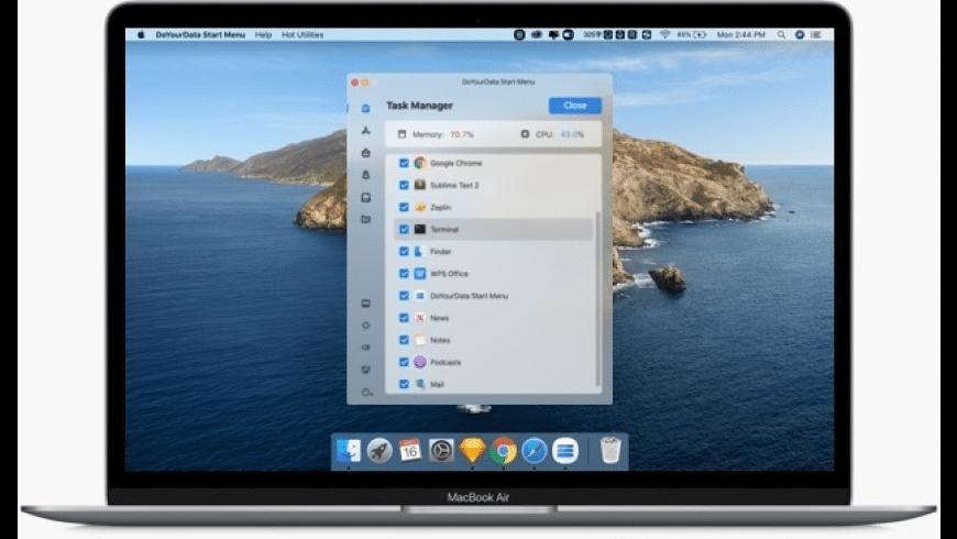 DoYourData Start Menu for Mac - review, screenshots