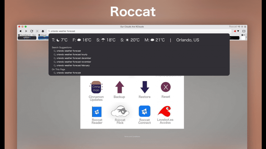 Roccat Browser for Mac - review, screenshots