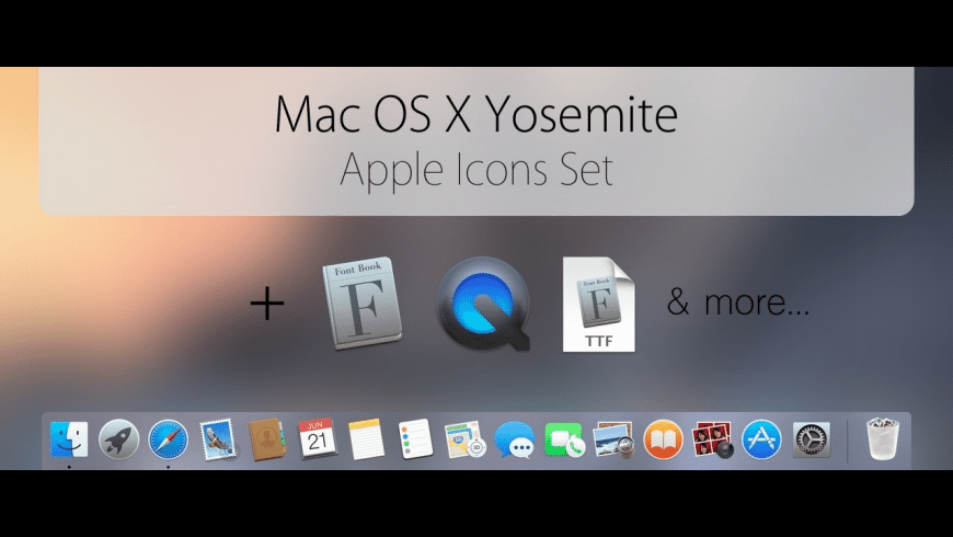 OS X Yosemite - Official Icons Pack for Mac - review, screenshots