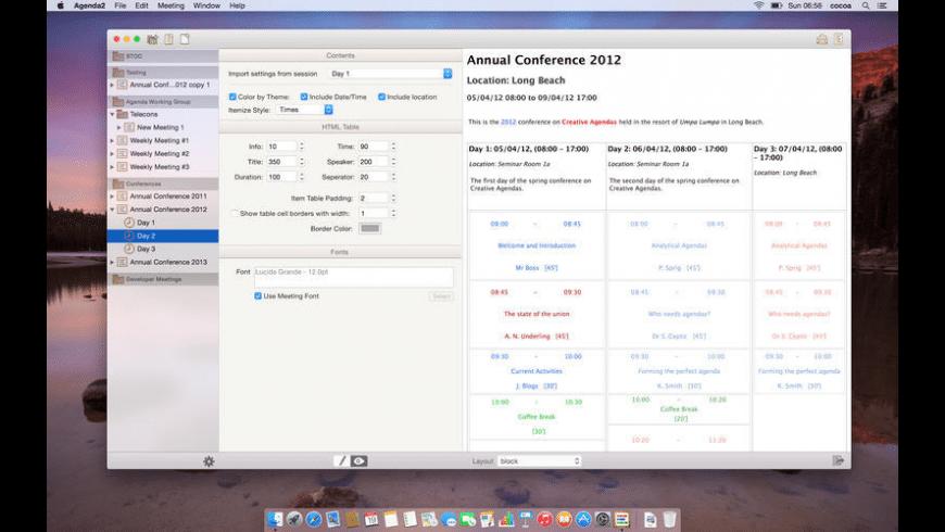 Agenda2 for Mac - review, screenshots