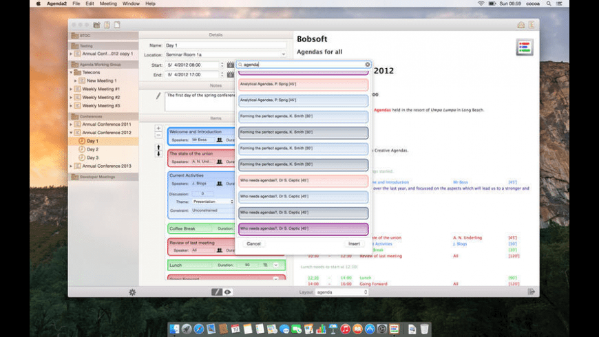 Agenda2 for Mac - review, screenshots