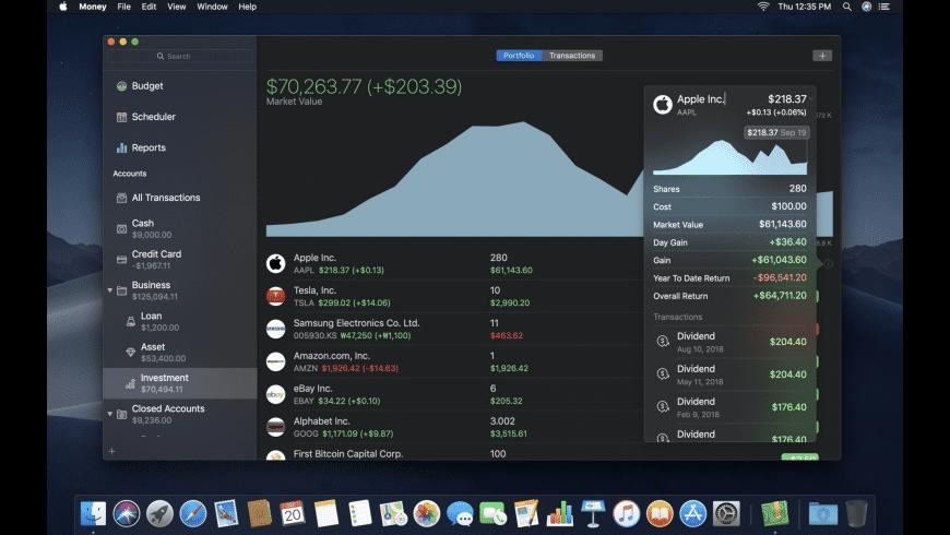 Money for Mac - review, screenshots