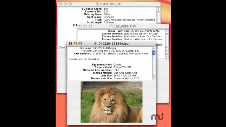 EXIF Viewer for Mac - review, screenshots