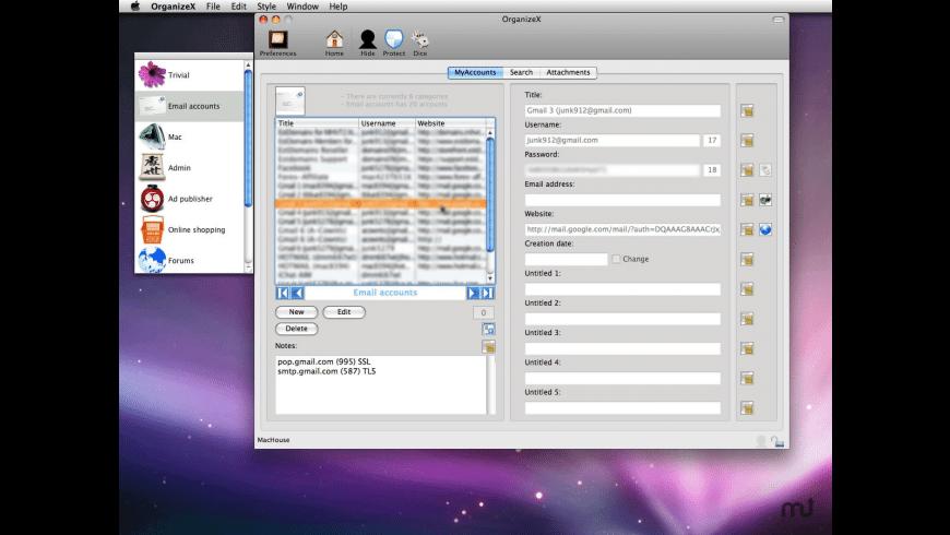 OrganizeX for Mac - review, screenshots