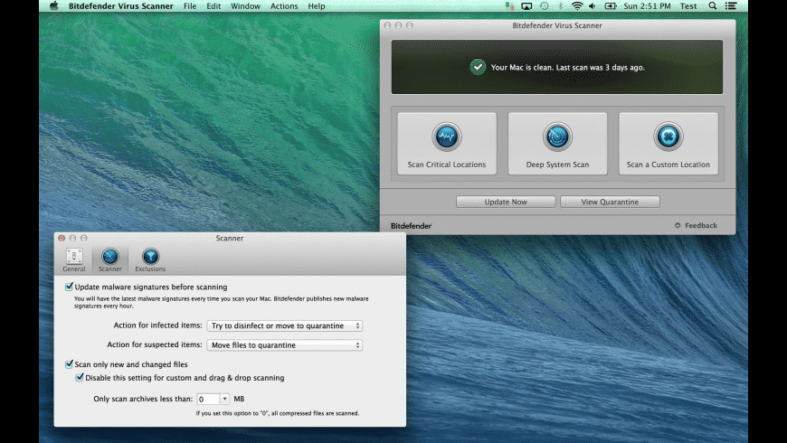 Bitdefender Virus Scanner for Mac - review, screenshots