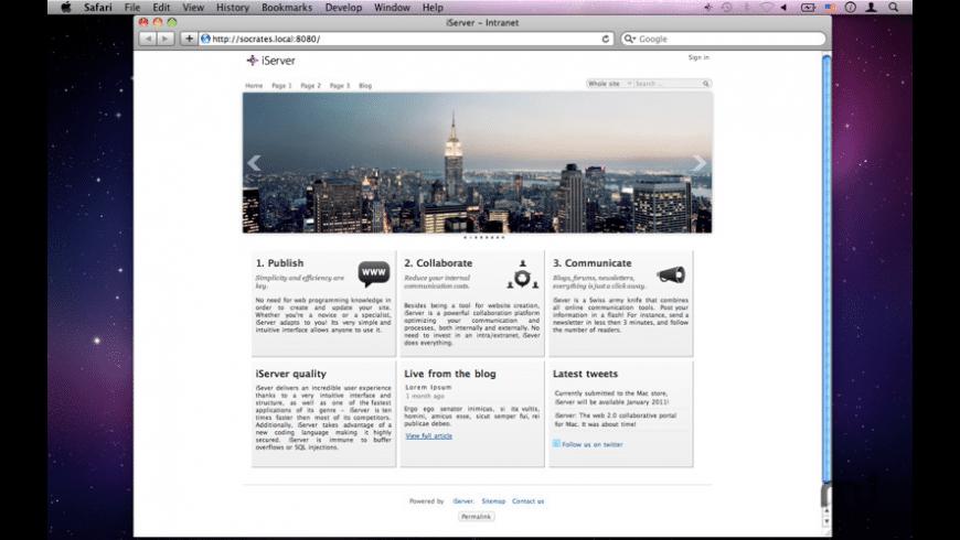 iServer Enterprise 2 for Mac - review, screenshots