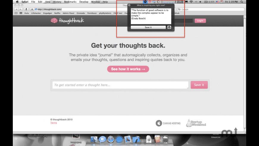 Thoughtback for Mac - review, screenshots