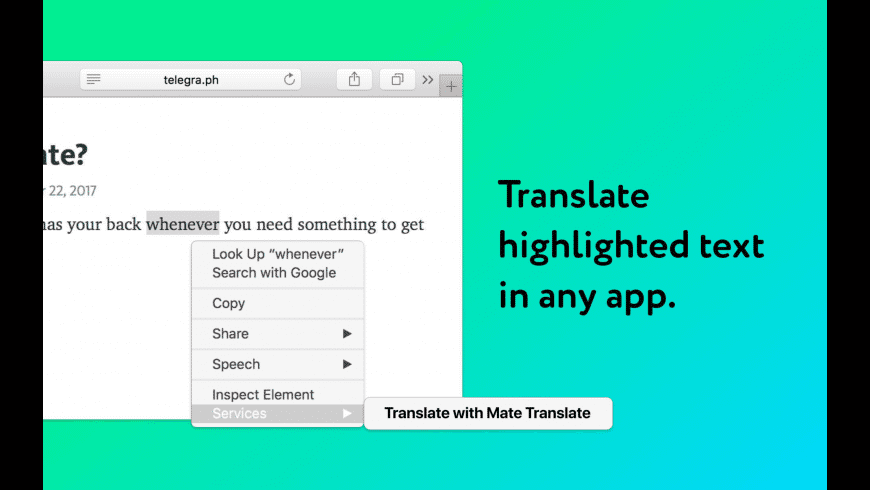 Mate Translate for Mac - review, screenshots
