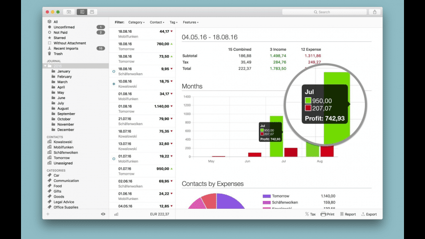Receipts for Mac - review, screenshots