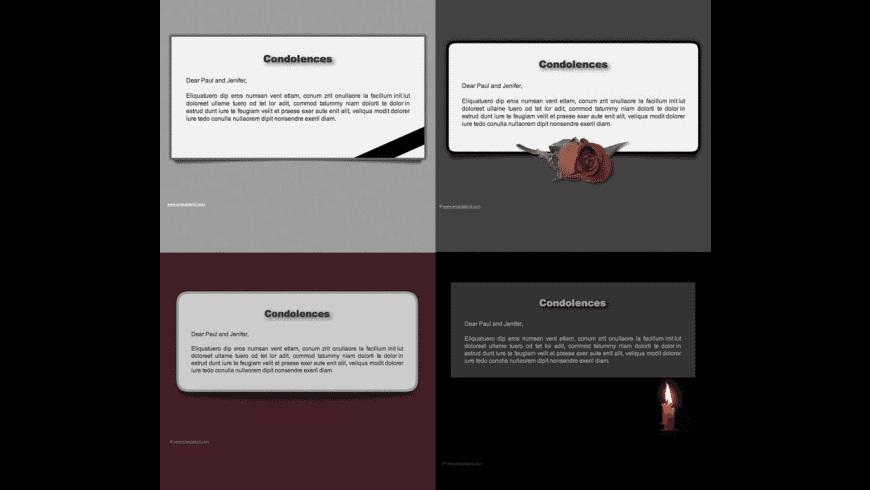 Condolences Stationery pack for Mac - review, screenshots