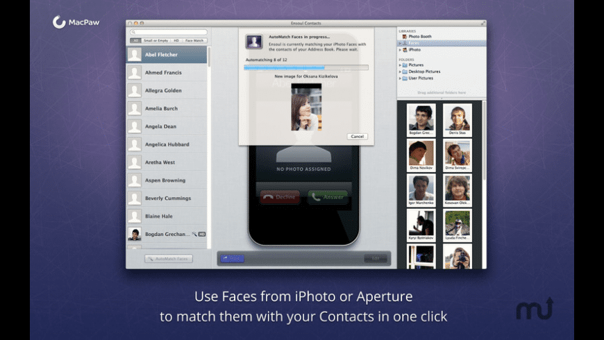 Ensoul Contacts for Mac - review, screenshots