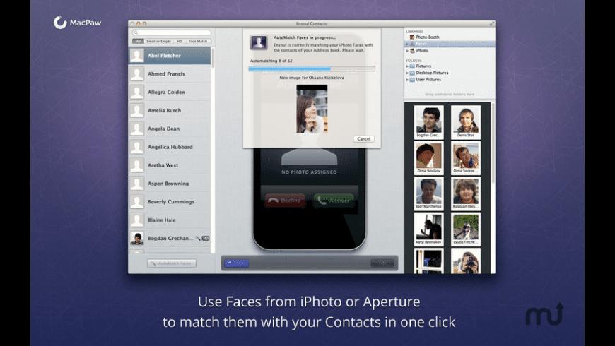 Ensoul Contacts for Mac - review, screenshots