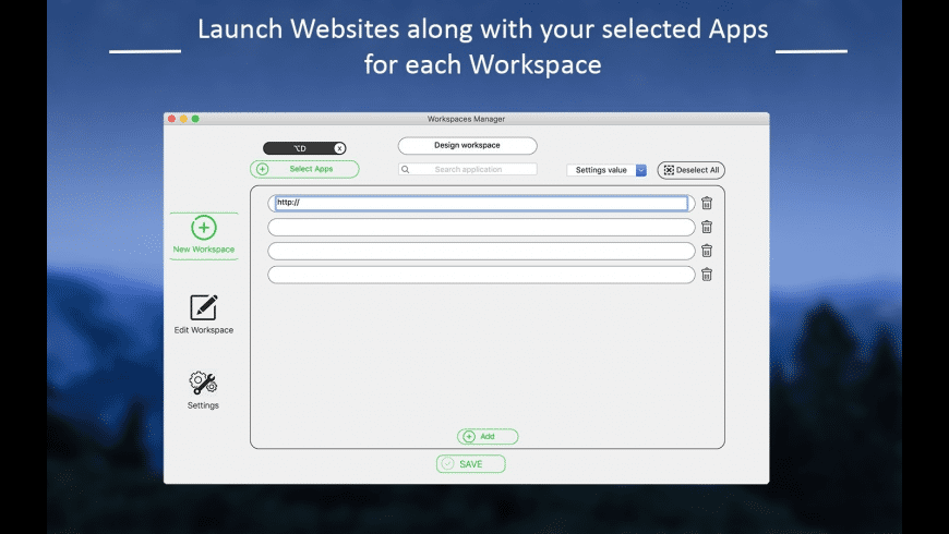 Workspace Manager for Mac - review, screenshots