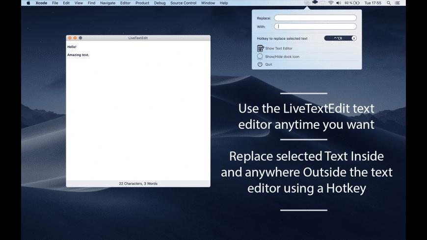 LiveTextEdit for Mac - review, screenshots