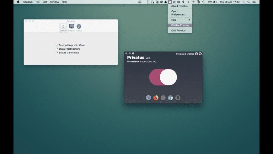 Privatus for Mac - review, screenshots