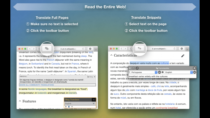 TranslateMe for Safari for Mac - review, screenshots