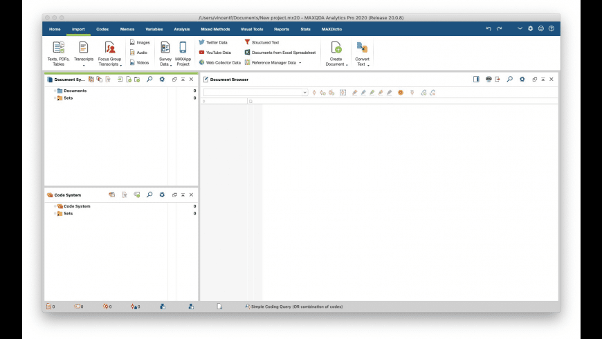 MAXQDA for Mac - review, screenshots