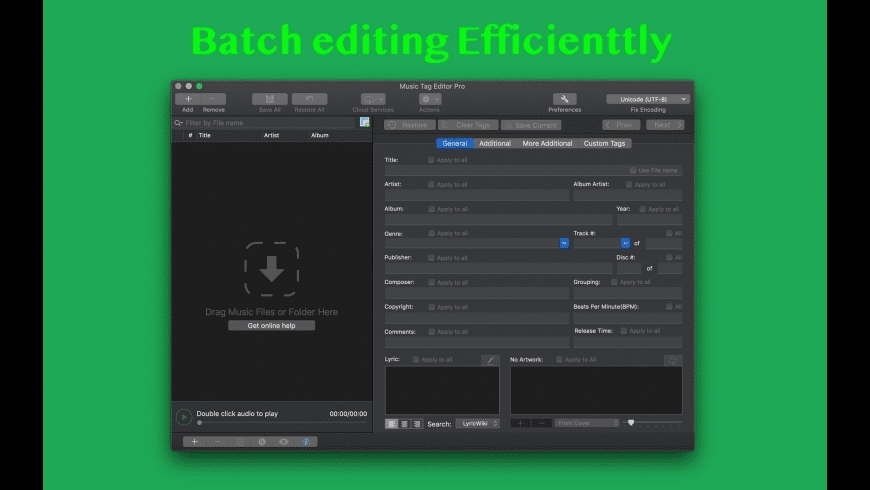 Music Tag Editor For Mac Free Download Review Latest Version