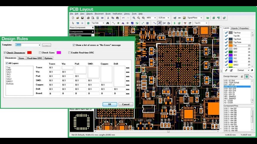 DipTrace for Mac - review, screenshots
