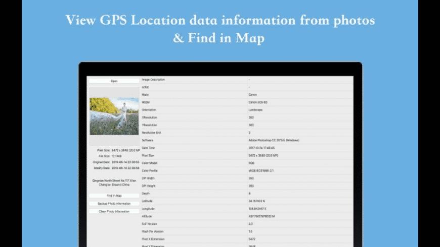 Photo Information Viewer for Mac - review, screenshots