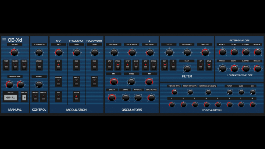 OB-Xd for Mac - review, screenshots