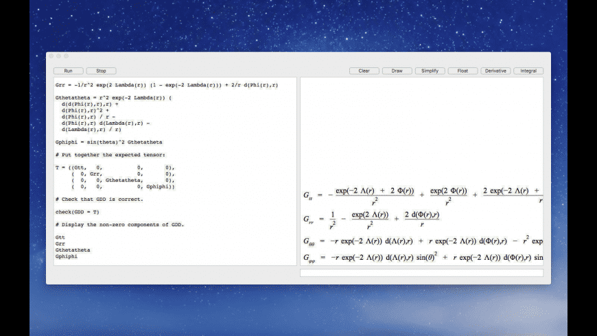 Eigenmath for Mac - review, screenshots