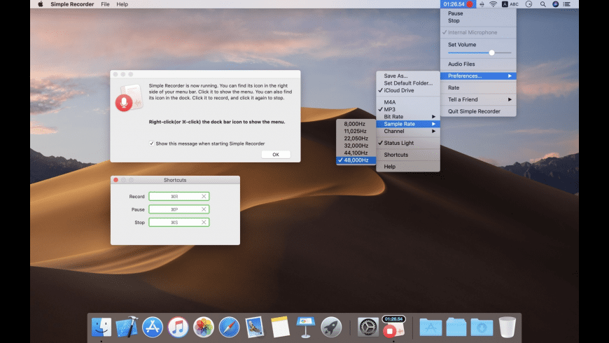 Simple Recorder for Mac - review, screenshots
