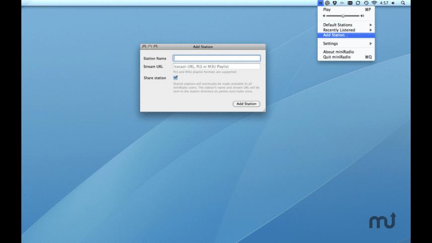 miniRadio for Mac - review, screenshots
