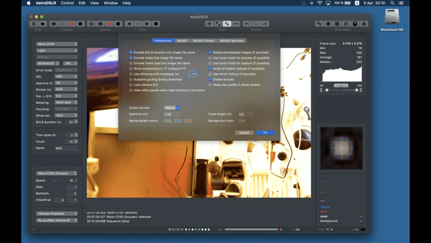 AstroDSLR for Mac - review, screenshots