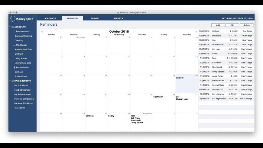 Moneyspire for Mac - review, screenshots