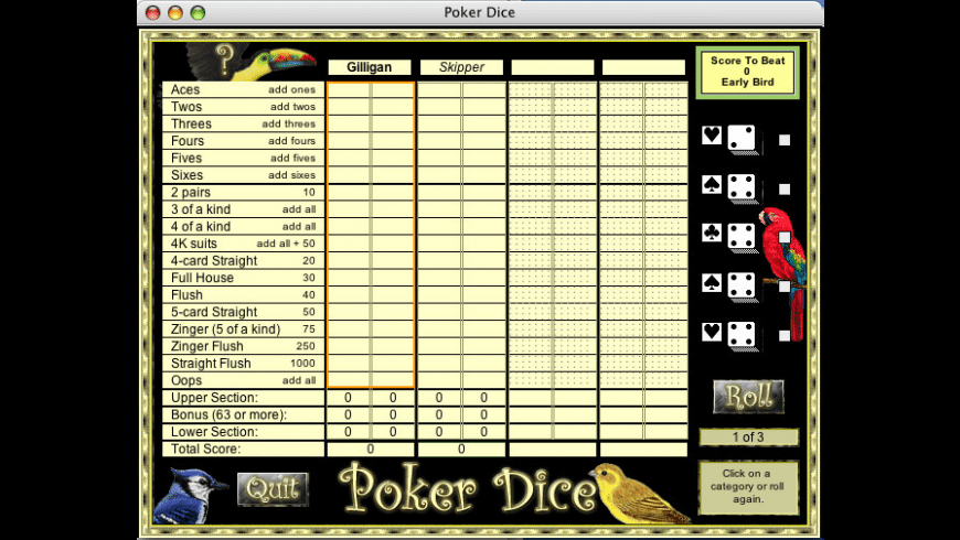 Poker Dice for Mac - review, screenshots