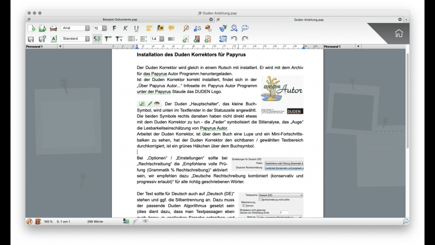Papyrus Author for Mac - review, screenshots