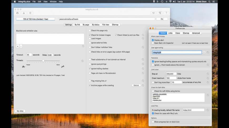 Integrity Plus for Mac - review, screenshots
