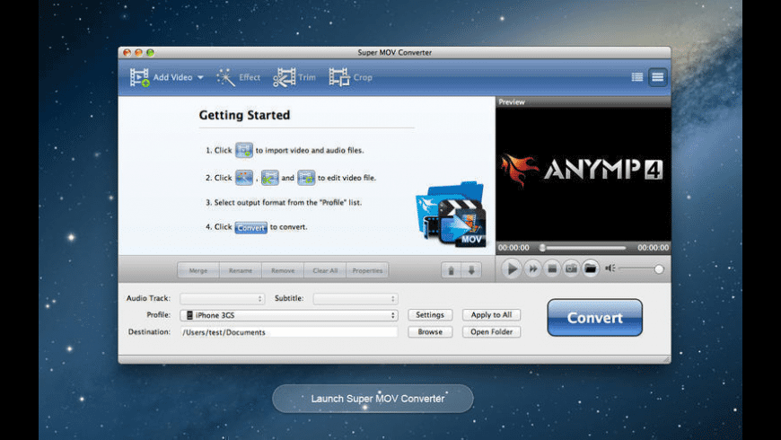 Any MP4-MOV Converter for Mac - review, screenshots