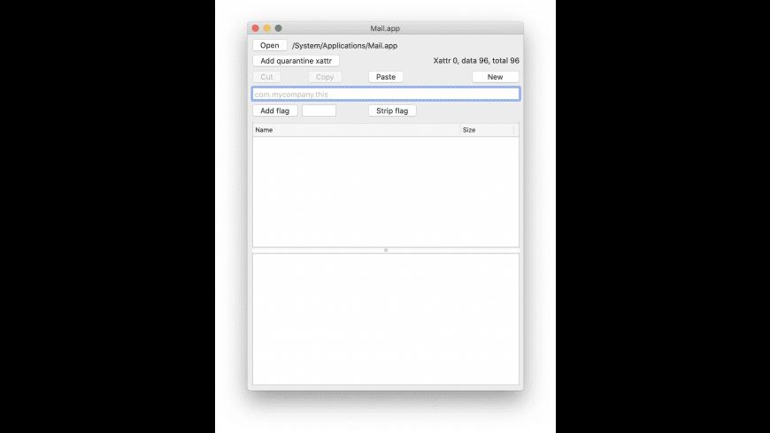 xattred for Mac - review, screenshots