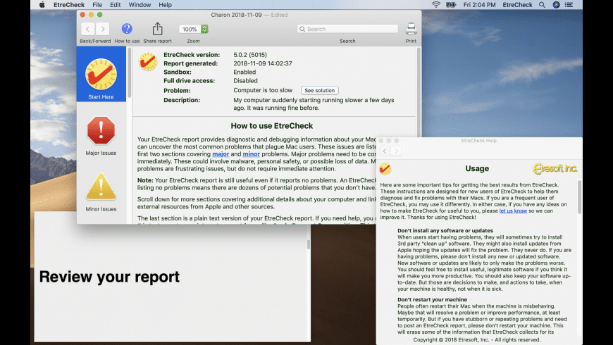 EtreCheck Pro for Mac - review, screenshots