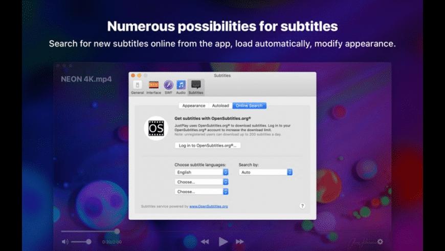JustPlay for Mac - review, screenshots