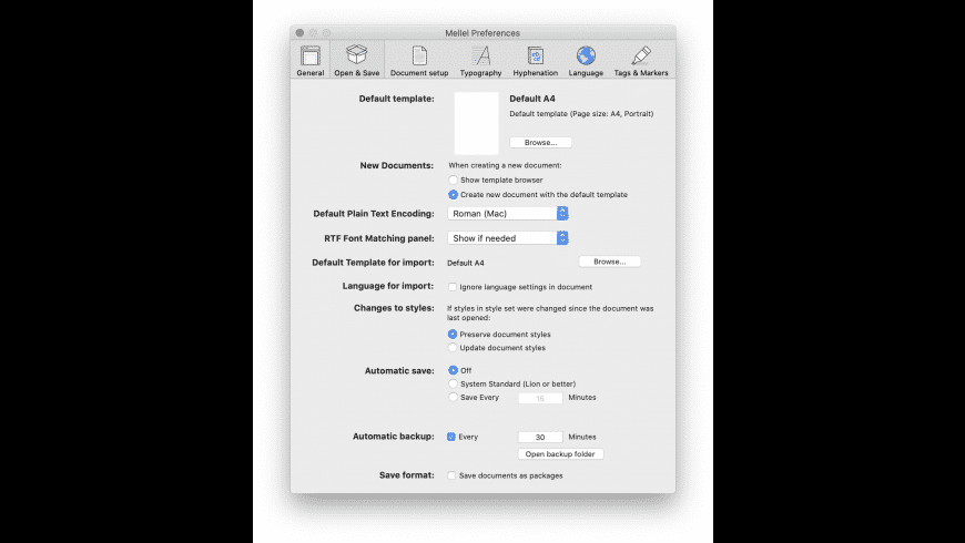 Mellel for Mac - review, screenshots