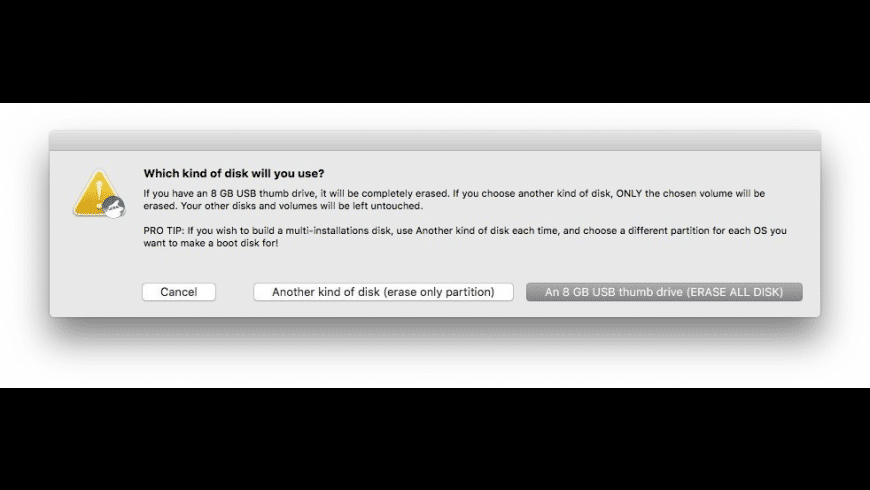 DiskMaker X for Mac - review, screenshots
