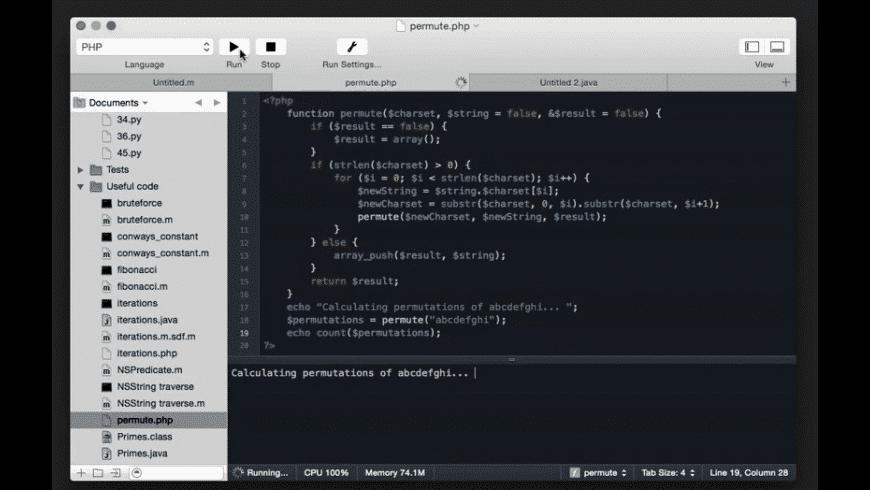 CodeRunner for Mac - review, screenshots