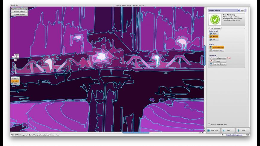 Vector Magic for Mac - review, screenshots