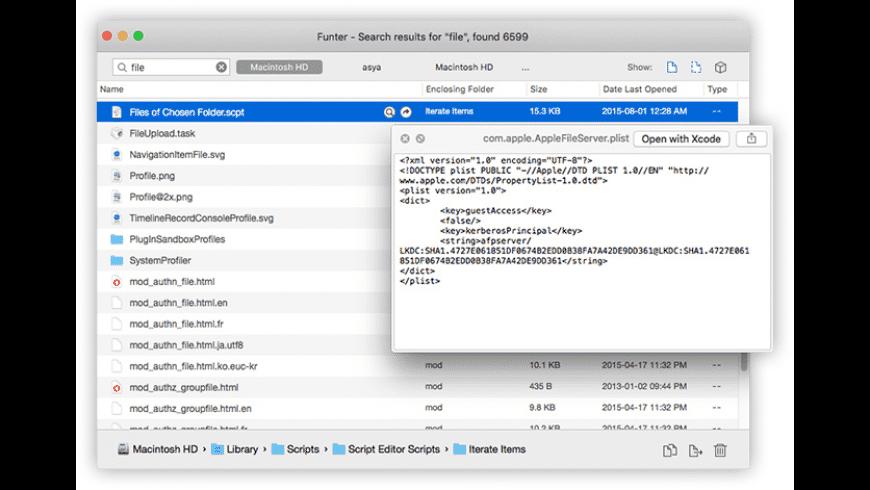 Funter for Mac - review, screenshots