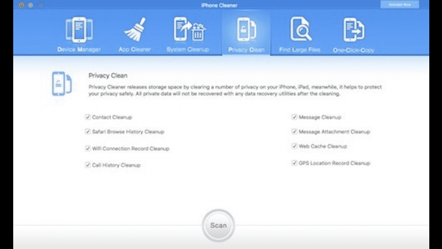 iPhone Cleaner for Mac - review, screenshots