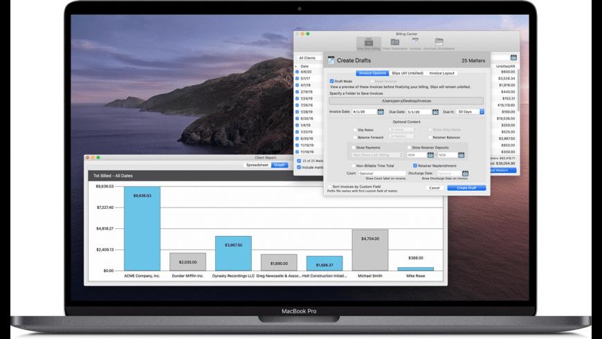 TimeNet Law for Mac - review, screenshots