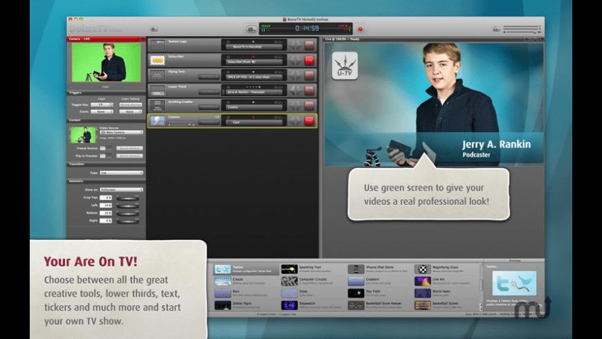 BoinxTV Home for Mac - review, screenshots