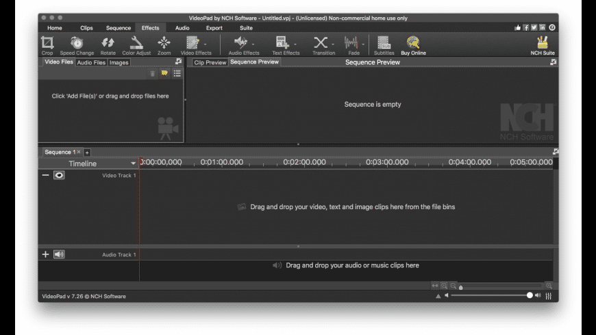 VideoPad for Mac - review, screenshots