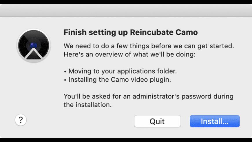 Camo for Mac - review, screenshots