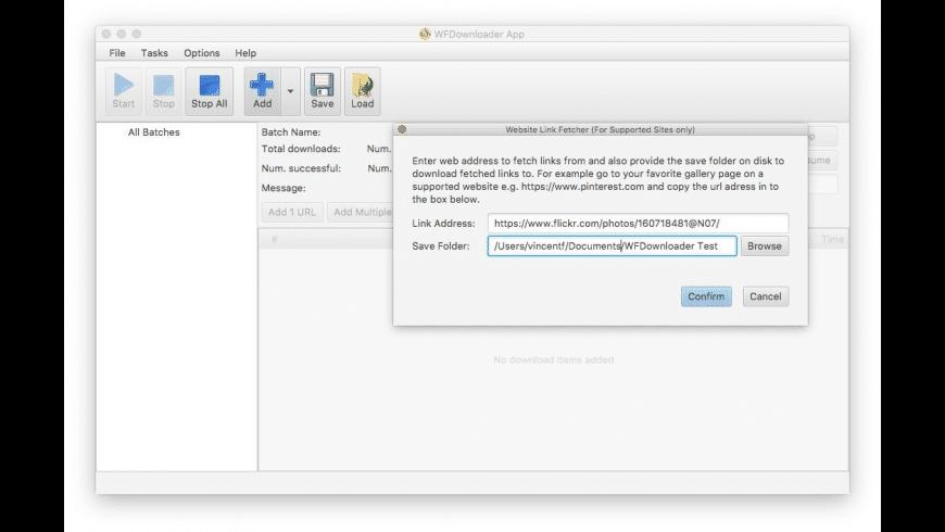 WFDownloader App for Mac - review, screenshots
